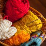 切迫早産入院中の編み物